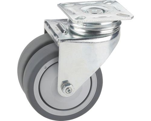 Roulette pivotante pour appareils de transport, jusqu''à 100 kg, 75 x 101 x 25 mm-0