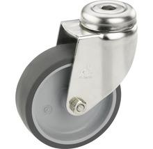 Roulette pivotante pour appareils de transport, jusqu''à 40 kg, 50 x 73 x 18 mm, sans plaque-thumb-0
