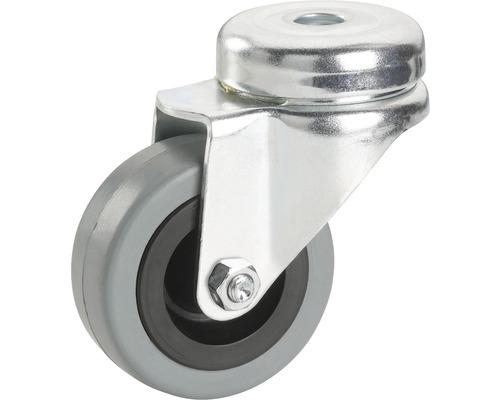 Roulette pivotante pour appareils de transport, jusqu'à 45 kg, 50 x 71 x 20 mm