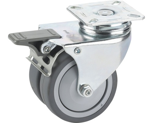 Transport-Geräte-Doppelrolle, bis 100 kg, 75 x 101 x 25 mm
