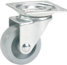 Roulette pivotante pour appareils de transport, jusqu''à 15 kg, avec plaque, 25 x 33 x 25 mm-thumb-0