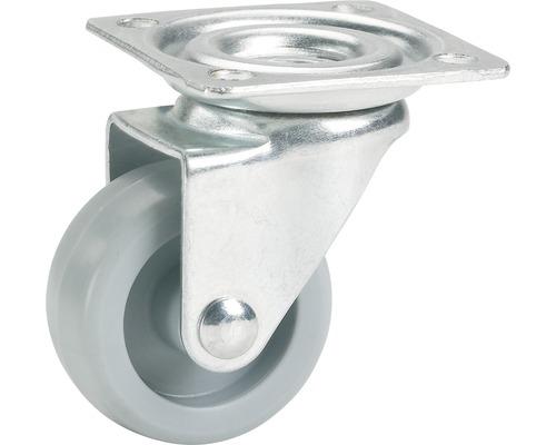Roulette pivotante pour appareils de transport, jusqu''à 15 kg, avec plaque, 25 x 33 x 25 mm-0