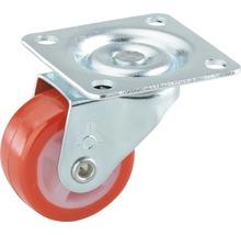 Roulette pivotante pour appareils de transport, jusqu''à 20 kg, avec plaque, 30 x 38 x 14 mm-thumb-0