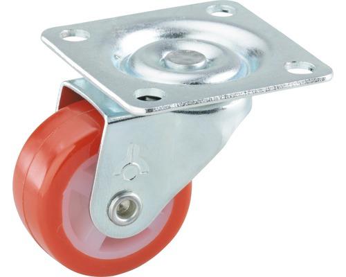 Roulette pivotante pour appareils de transport, jusqu''à 20 kg, avec plaque, 30 x 38 x 14 mm-0