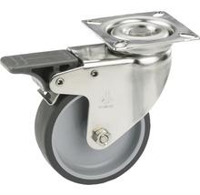Roulette pivotante pour appareils de transport, blocable, jusqu''à 40 kg, 50 x 73 x 18 mm-thumb-0