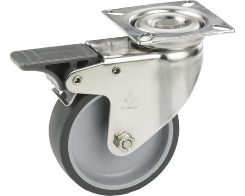 Roulette pivotante pour appareils de transport, blocable, jusqu''à 40 kg, 50 x 73 x 18 mm