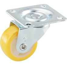 Roulette pivotante pour appareils de transport, 30 x 30 x 14 mm jaune-thumb-0