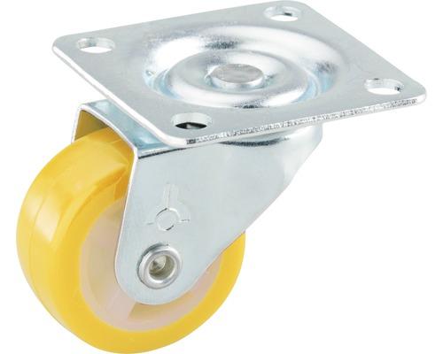 Roulette pivotante pour appareils de transport, 30 x 30 x 14 mm jaune-0