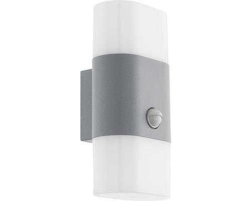 Applique extérieure à capteur LED 2x5,5W 1300 lm 3000 K blanc chaud H 260 mm Favria argent/blanc