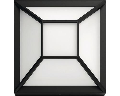 Applique extérieure LED 1x12W 1200lm blanc chaud 190x190mm noir