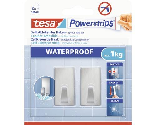 Crochet tesa Powerstrips® Waterproof Small carré acier inoxydable 59780-00000-00
