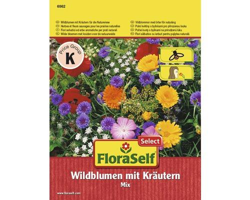 Mélange d''herbes et de fleurs sauvages pour les prairies naturelles semences de fleurs FloraSelf®