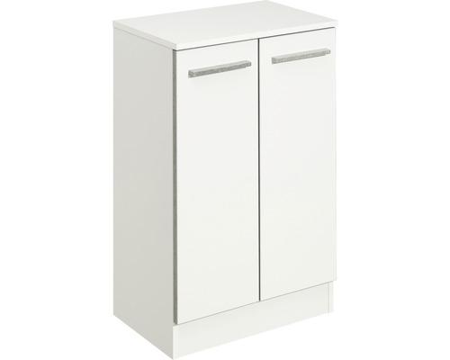 Armoire mi-hauteur Pelipal Kassel blanc brillant largeur 50cm