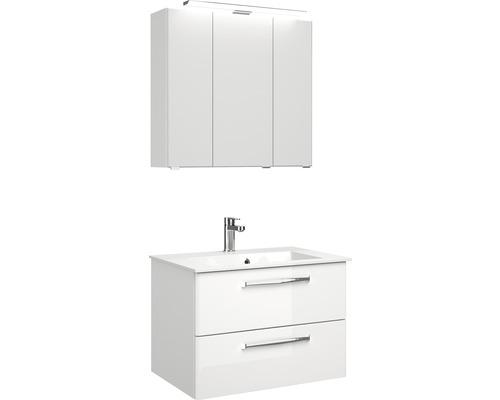 Ensemble de meubles de salle de bains Pelipal Kumba blanc à haute brillance largeur 77 cm 99.77012609