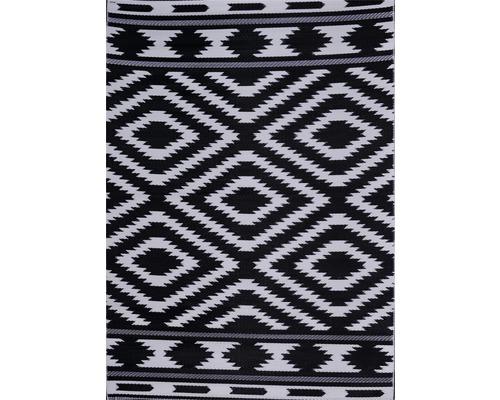 Tapis extérieur losange noir/blanc 120x180cm