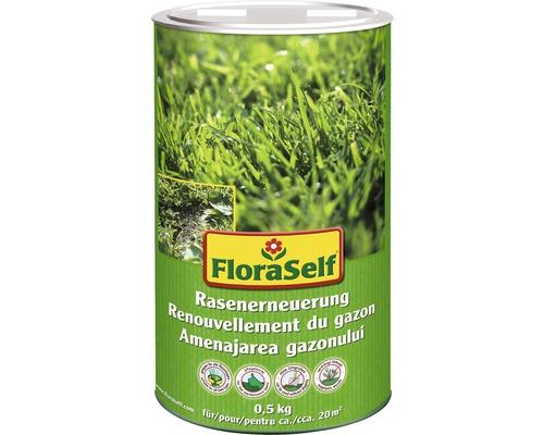 Graines de gazon FloraSelf renouvellement de gazon 500g 20m²