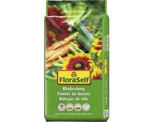 Fumier de bovins FloraSelf engrais organique 10 kg