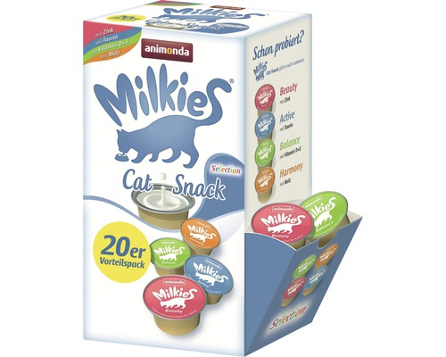Friandises pour chats animonda Milkies Sélection 20x15g