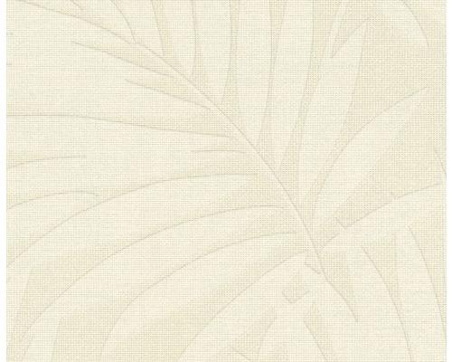 Papier peint intissé 527544 Barbara Home Feuilles beige