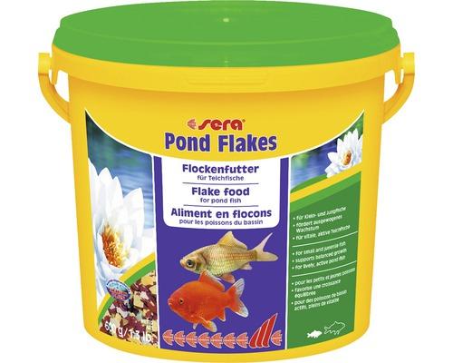 Nourriture pour bassins de jardin sera Pond Flakes 3,8l