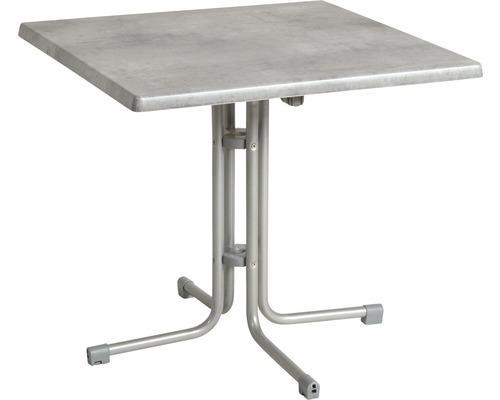 Table de jardin Acamp Piazza 80x80x72cm argent