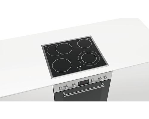 Plaque vitrocéramique Bosch 60 cm NKN645GA1E commandée par la cuisinière