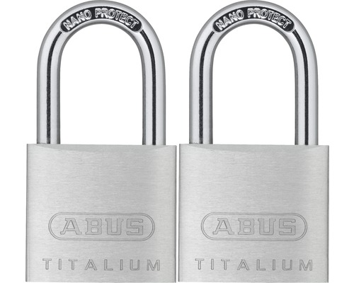 Vorhängeschloss Abus 67TI/30 Twins B/SB Aluminium 30 mm