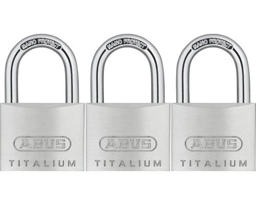 Vorhängeschloss Abus 67TI/40 Triples Aluminium 40 mm