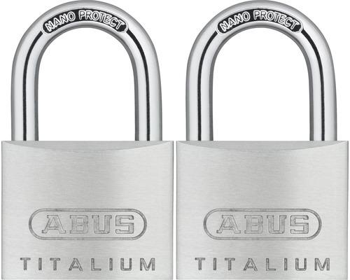Vorhängeschloss Abus 67TI/40 Twins B/SB Aluminium 40 mm