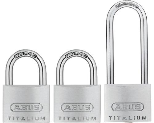 Vorhängeschloss Abus 67TI/40+HB63 Triple Aluminium 40 mm