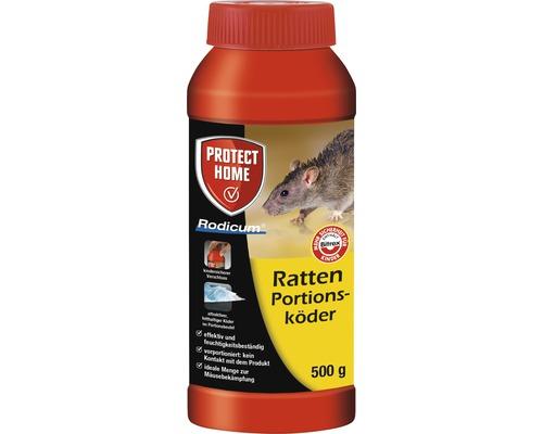 Appât pour rats portionné Protect Home Rodicum 500 g pour boîte à appâts, poste d''appâts
