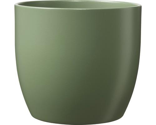 Cache-pot Soendgen Basel Fashion céramique Ø 13 H 12 cm vert mousse-0