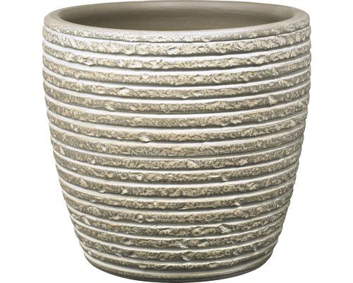 Blumentopf Soendgen Porto Keramik Ø 12 H 10 cm braun gewischt