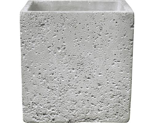 Pot de fleurs Soendgen Latina Concrete ciment 13x13x13 cm gris clair