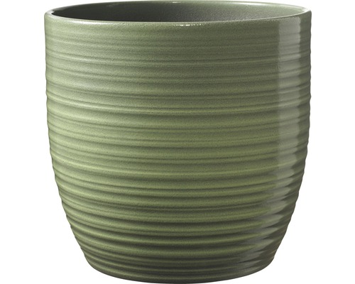 Pot de fleurs Soendgen Bergamo lasure céramique Ø 14 H 13 cm vert feuille