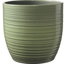 Pot de fleurs Soendgen Bergamo lasure céramique Ø 13 h 12 cm vert feuille-thumb-0