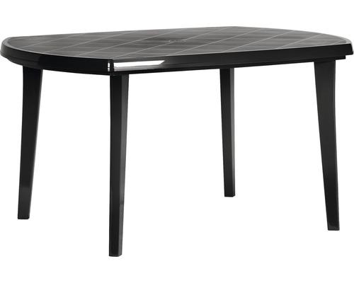 Table de jardin Elise en plastique 137x90x73 cm anthracite