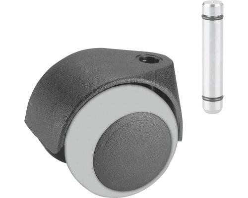 Roulette double pour appareils de transport, jusqu'à 30 kg, 40 x 54 mm