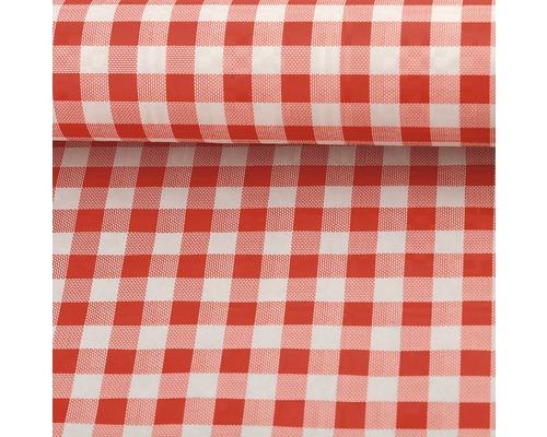 nappe de table papier carreaux rouge-blanc, 100 cm x 10 m - hornbach