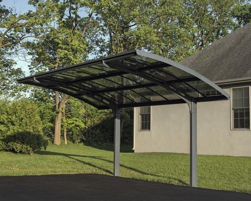 Carport simple PALRAM Arizona Breeze 5000 288,8x494,7cm gris