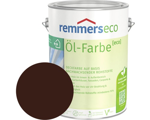 Remmers eco Öl-Farbe Holzfarbe nussbraun 750 ml