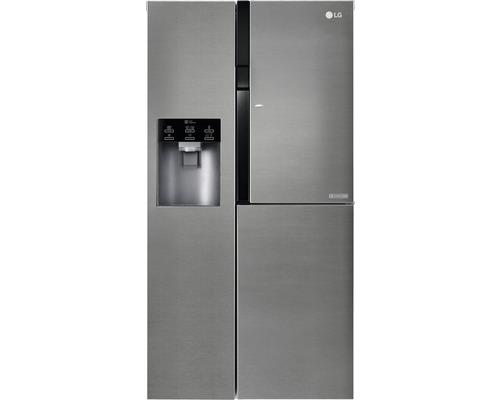 Réfrigérateur américain LG GSJ361DIDV lxhxp 91,2 x 179 x 71,7 cm compartiment de réfrigération 400 l compartiment de congélation 206 l 419 kWh/an gris