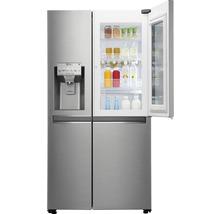 Side by Side Kühlschrank LG GSI961PZAZ BxHxT 91,2 x 179 x 73,8 cm Kühlteil 411 l Gefrierteil 214 l 431 kWh/Jahr edelstahl mit InstaView-Funktion: klopfen und reinschauen-thumb-9