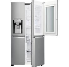 Side by Side Kühlschrank LG GSI961PZAZ BxHxT 91,2 x 179 x 73,8 cm Kühlteil 411 l Gefrierteil 214 l 431 kWh/Jahr edelstahl mit InstaView-Funktion: klopfen und reinschauen-thumb-10