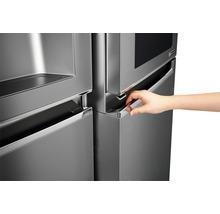 Side by Side Kühlschrank LG GSI961PZAZ BxHxT 91,2 x 179 x 73,8 cm Kühlteil 411 l Gefrierteil 214 l 431 kWh/Jahr edelstahl mit InstaView-Funktion: klopfen und reinschauen-thumb-14