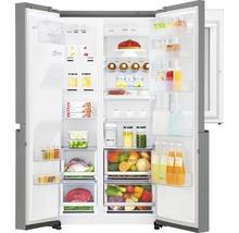 Side by Side Kühlschrank LG GSI961PZAZ BxHxT 91,2 x 179 x 73,8 cm Kühlteil 411 l Gefrierteil 214 l 431 kWh/Jahr edelstahl mit InstaView-Funktion: klopfen und reinschauen-thumb-5