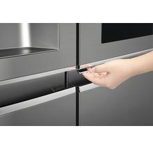 Side by Side Kühlschrank LG GSI961PZAZ BxHxT 91,2 x 179 x 73,8 cm Kühlteil 411 l Gefrierteil 214 l 431 kWh/Jahr edelstahl mit InstaView-Funktion: klopfen und reinschauen-thumb-16