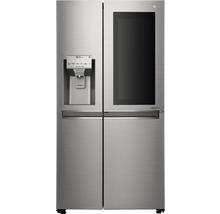 Side by Side Kühlschrank LG GSI961PZAZ BxHxT 91,2 x 179 x 73,8 cm Kühlteil 411 l Gefrierteil 214 l 431 kWh/Jahr edelstahl mit InstaView-Funktion: klopfen und reinschauen-thumb-6