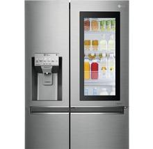 Side by Side Kühlschrank LG GSI961PZAZ BxHxT 91,2 x 179 x 73,8 cm Kühlteil 411 l Gefrierteil 214 l 431 kWh/Jahr edelstahl mit InstaView-Funktion: klopfen und reinschauen-thumb-11