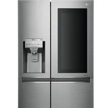 Side by Side Kühlschrank LG GSI961PZAZ BxHxT 91,2 x 179 x 73,8 cm Kühlteil 411 l Gefrierteil 214 l 431 kWh/Jahr edelstahl mit InstaView-Funktion: klopfen und reinschauen-thumb-12
